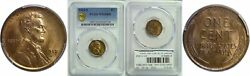 1912-s 1c Lincoln Cent Pcgs Ms-65 Rb