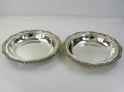 Duke Of Sutherland Pair Of 10 Silver Soup Plates, 1840 Gr Collis Wolf Crest