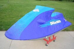 Sea Doo Sp Spi Xp Dual Mirror Cover Purple And Teal With Dealer Log New In Box Oem