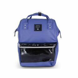 Anello Classic Style Exquisite Double Leather Rucksack Backpack w Handles BLUE $55.99