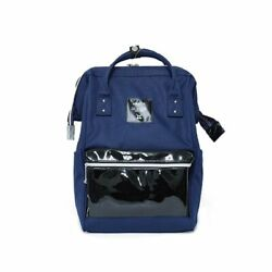 Anello Classic Exquisite Double Leather Rucksack Backpack with Handles DARK BLUE $55.99