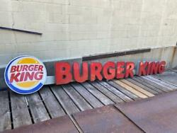 Orginal Trade Mark 220l Burger King Neon Lighted Out Door Sign For Collection