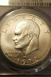 1972-s Eisenhower Silver 1.00 Dollar Pcgs Ms66 Beautiful Collector Us. Coin