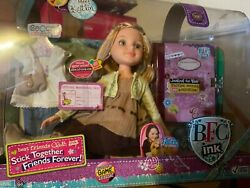 """New Bfc Ink Kaitlin 18"""" Doll 2 Outfits Boots Purse Diary Best Friends Club Rare"""