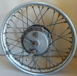 Royal Enfield Front Wheel Dual 6 Brakes Dunlop Wm2 X 19and039and039 37320 1954-1961