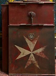 Stunning Decorative And Rare Antique First Aid Box Medical Kit First World War