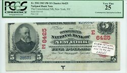 Fr. 598 1902 Pb 5 Ch 6425 National Bank Note Pcgs 25 Very Fine 1,800 6/27
