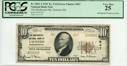 Fr. 1801-2 1929 Ty.2 10 Error Ch 947 National Bank Note Pcgs 25 Vf 3,000 6/27