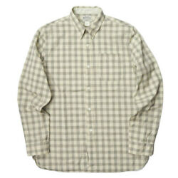 Rrl Checked Cotton Dobby Work Shirt Long Sleeve Button Down Used