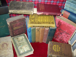 Lot Of 47 Antique Hb Books 1850s/up Instant Library Classics Literature Fiction
