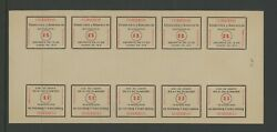 Mexico Mint 325 Ngai Sonora White Seal Sheet Of 10 Usual Separations