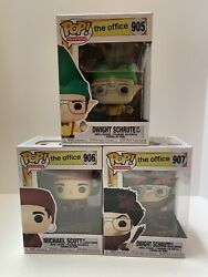 The Office Funko Pop Set Of 3 Santa Michael Dwight Elf Belsnickel With Cases