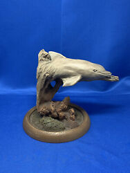 Rick Cain Limited Edition Sculpture Soft Wave 870/2000 Dolphin