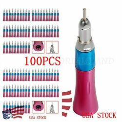 100nsk Style Dental Low Speed Handpiece Straight Nosecone Standard E-type Pink