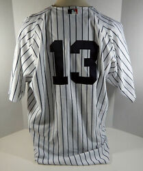 New York Yankees Alex Rodriguez 13 Authentic White Jersey Russell Nwt 56 3