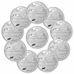 Lot Of 10 Private Mint 1 Oz Silver Round Wallstreetbets And Gamestonk Gem Bu