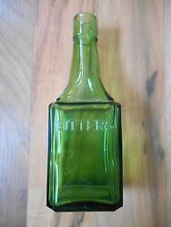 Old Vintage Or Antique Collectible Green Bitters Bottle Wheaton New Jersey 6
