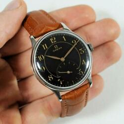 Original Omega 1944and039 Wwii Manual Wind St Steel Vintage Gents Watch Ref 2317