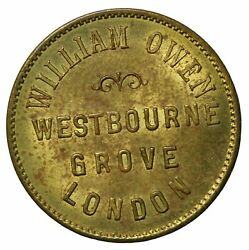 1800and039s Great Britain Middlesex London William Owen Draper Ae Farthing Token