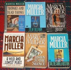 Lot-7 Marcia Muller Pb Eye Of The Storm+listen To/silence+ask/cards A Question++