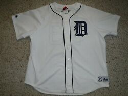 Detroit Tigers Kirk Gibson Jersey Vintage Majestic Jersey All Sewn On Size Xxl