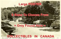 Port Carling 1940and039s Muskoka Old Cars Main St. = Poster Postcard 8 Sizes 17-3 Ft