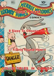 Bugs Bunny 1944 Ice Skating Danger Porky Pig = Poster Comic Book 8 Sizes 17-3ft