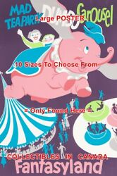 Mad Tea Party Dumbo Carousel 1955 Disneyland Rides = Poster 10 Sizes 17 - 5 Ft