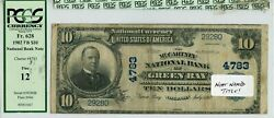 Fr. 628 1902 Pb 10 Ch 4783 National Bank Note Green Bay, Wisconsin Pcgs 12 F
