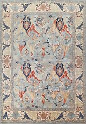 Geometric Hand-knotted Ziegler Oriental Area Rug Wool Dining Room 9and039x12and039 Carpet