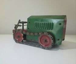 Early Structo Toys Wind-up Caterpillar Cletrac Tractor 20's V Rare Nice Works