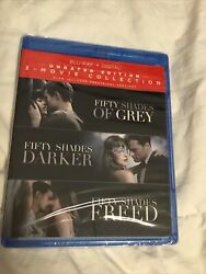Fifty Shades Of Grey Trilogy 3 Movie Collection Darker Freed Unrated Blu Ray