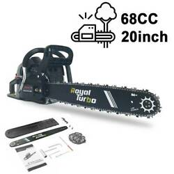 20and039and039 Gas Chainsaw 68cc Wood Cuttiing Crankcase Gasoline Aluminum Chain Saw