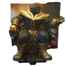 Thanos On Throne Statue Sideshow Collectibles 1/4 Scale With Matching Art Print