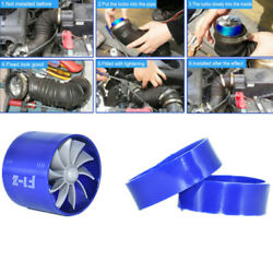 Car Supercharger Turbine Turbo Charger Air Filter Intake Fan Fuel Gas Saver Kit