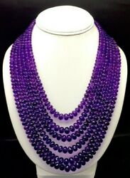 Natural Amethyst Micro Faceted Rondelle Shape Beaded Necklace With Cord Closure