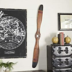 Wood Airplane Propeller 48x5 Vintage Wooden Model Aviation Wall Home Decor Deco