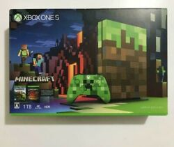Xbox One Console System S 1tb Minecraft Limited Edition Japan Microsoft Unopen