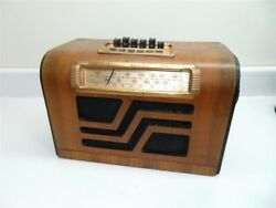 Antique Wooden Philco 39-17 Radio With Tubes, Transformers And The Whole Kit.