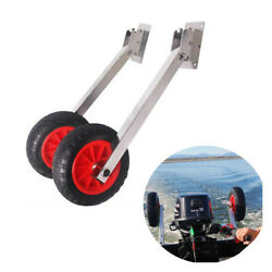 Boat Stainless Steel Transom Launching Dolly Wheels Inflatable Boat Wheel