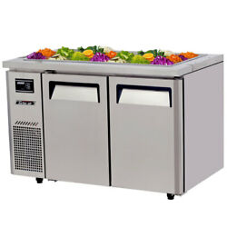 Turbo Air Jbt-48-n 48 Refrigerated Buffet Display Table Stainless W/ Casters