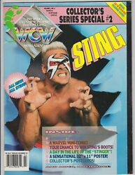 Wcw Magazine Sting Collectors Series Special 2 With Trading Cards / Postcards