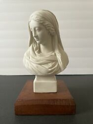 Antique Classical Parian Bust Woman Robinson And Leadbeater English Porcelain