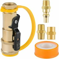 1/4 Inch Propane Quick Connect Fittings, Bbq Grill Adapter Kit For Propane Hose