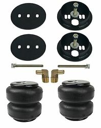 Air Lift D2600 Air Bags With Bracket Mounts And 1/2 Elbows For 1963-72 Chevy C10