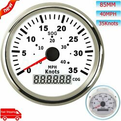 85mm Marine Gps Digital Speedometer 0-35knots 0-40mph With Antenna For Car Yacht