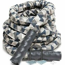 Battle Rope For Crossfit And Undulation Training - W/ Anchor Kit For Gym Exercise