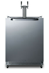 Summit Sbc695oswkdtwin 24inch Wide 6.04cu. Ft. Built-in Twin Tap - Stainless