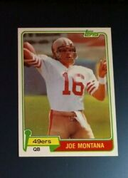 1981 Topps Joe Montana Rookie Card 216 In Mint Condition See Scan