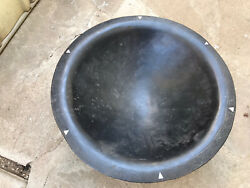 Large Primitive Handcarved Wooden Bowl 24 Diameter With Legs Maybe For Mixing